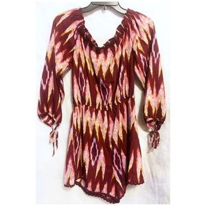 About A Girl Dresses - About a Girl Long Sleeve Abstract Romper NWT